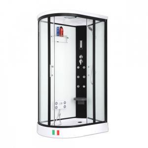 Душевая кабина Maroni Corsica WBLAR-027S 120х85 прозрачное стекло с гидромассажем правая