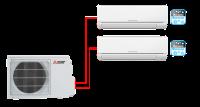 Мульти сплит система на 2 комнаты         Mitsubishi Electric MSZ-HJ25VA ER1*2 + MXZ-2HJ40VA ER1