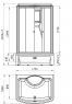 Душевая кабина Radomir Диана 2 139х108 прозрачное стекло