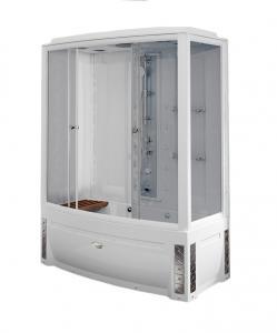 Душевой бокс Radomir Элис 1 168х85 с паром и гидромассажем, прозрачное стекло, левосторонний