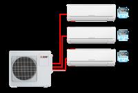 Мульти сплит система на 3 комнаты Mitsubishi Electric MSZ-HJ25VA ER1*3 + MXZ-3HJ50VA ER1