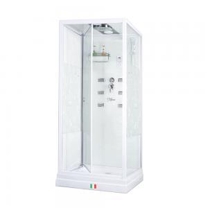 Душевая кабина Maroni Firenze WLD-033Р 90х90 стекло с рисунком, гидромассажем
