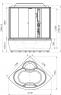 """Душевой бокс Radomir Калифорния 1 155х155 с крышей """"сендвич"""", пар, гидромассаж, матовое стекло"""