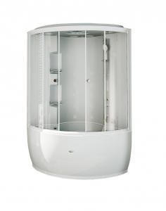 Душевой бокс Radomir Лаура 2 128х128 с крышей типа «сендвич», прозрачное стекло, пар, гидромассаж
