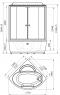 Душевой бокс Radomir Лаура 1 128х128 с крышей типа «сендвич», матовое стекло, пар, гидромассаж