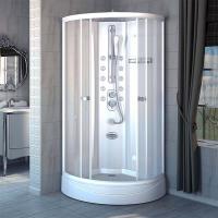 Душевая кабина Radomir Паола 1 93х93 прозрачное стекло, профиль белый