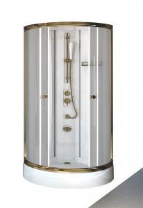 Душевая кабина Radomir Паола 1 Gold 93х93 матовое стекло, профиль золото