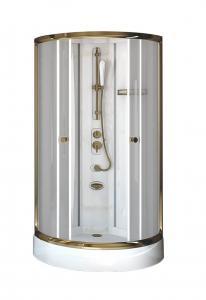 Душевая кабина Radomir Паола 1 Gold 93х93 прозрачное стекло, профиль золото