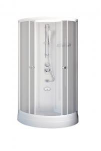 Душевая кабина Radomir Паола 2 103х103 матовое стекло, профиль белый