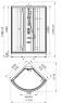 Душевая кабина Radomir Паола 2 Люкс 103х103 прозрачное стекло, профиль хром