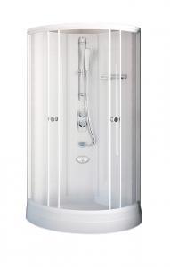 Душевая кабина Radomir Паола 2 103х103 прозрачное стекло, профиль белый