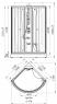 Душевая кабина Radomir Паола 3 114х114 матовое стекло, профиль белый