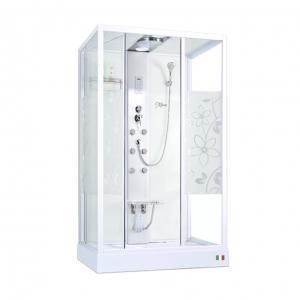 Душевая кабина Maroni Firenze WLD-035Р 90х120 стекло с рисунком, гидромассаж